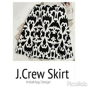 J.Crew A-Line Midi Skirt
